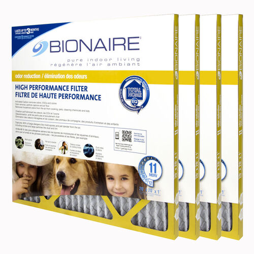 Bionaire® Odour Reduction MERV 11 Furnace Filter - 20x20 - 4 Pack