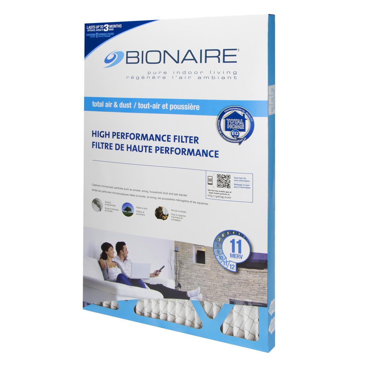 Bionaire® Total Air MERV 11 Furnace Filter - 16x25
