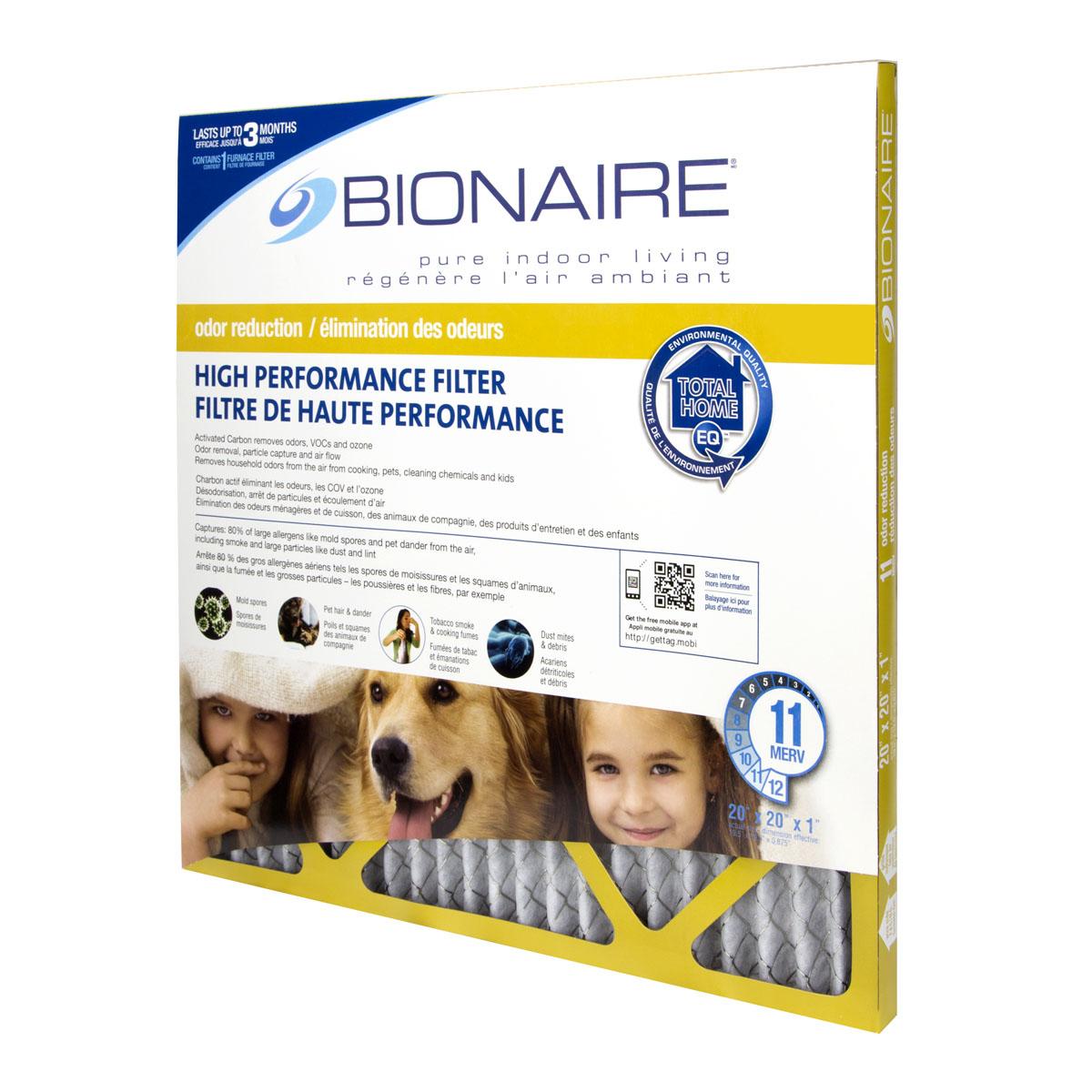 Bionaire® Odour Reduction MERV 11 Furnace Filter - 20x20