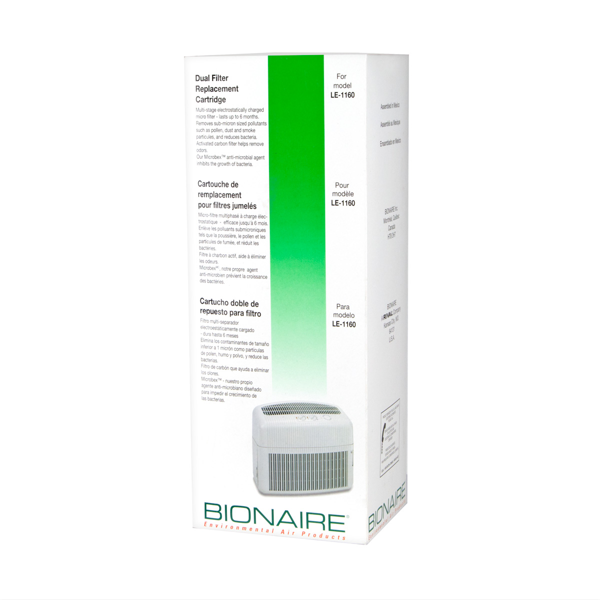 Bionaire® Dual Filter Replacement Cartridge A1101D X Bionaire  #00BB12