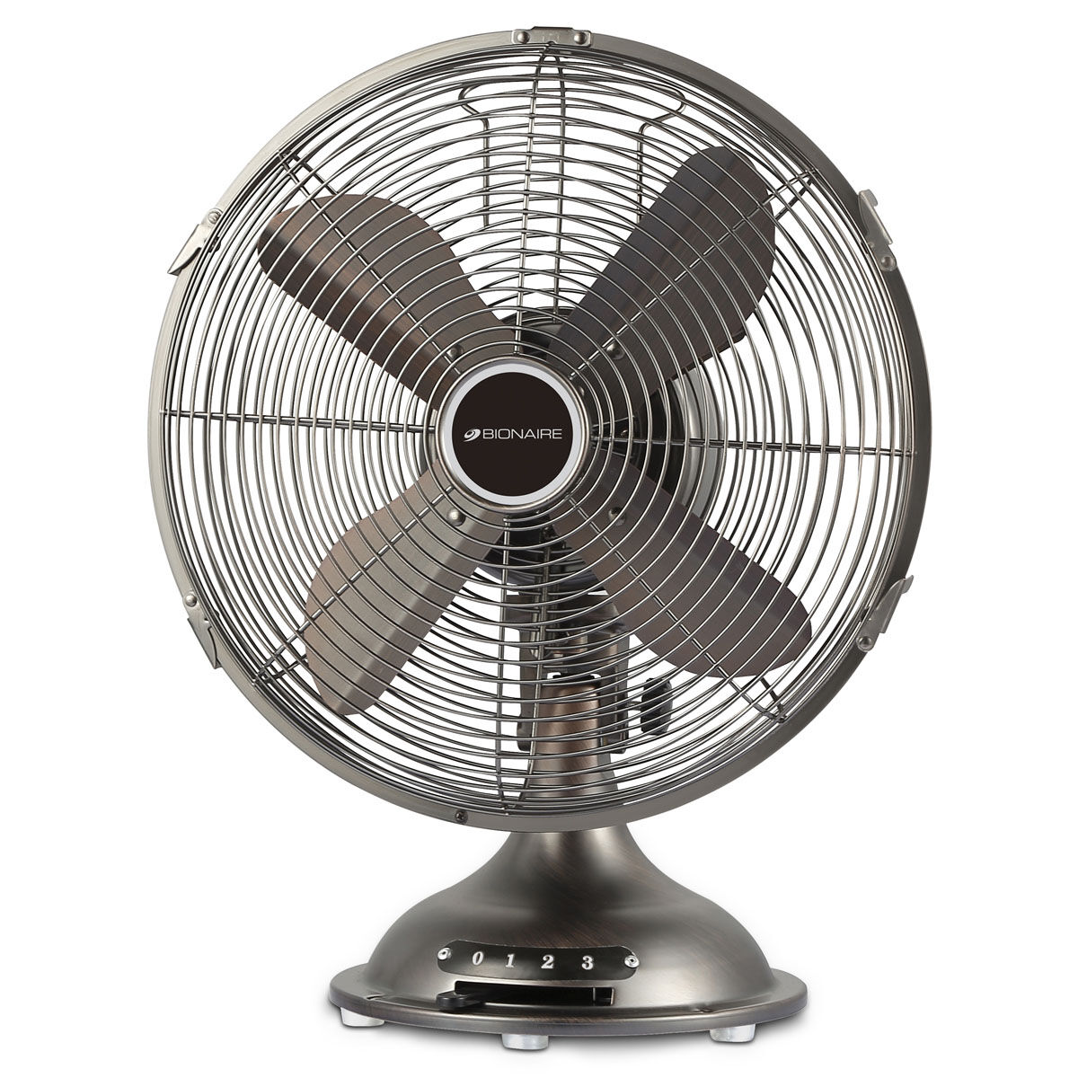 Bionaire® 12 Inch Table Fan   All Metal, Pewter